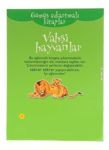 Çiçek Yayıncılık Gümüş Çıkartmalı Kitaplar-Vahşi Hayvanlar Renkli